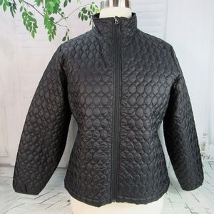 Land's End women's XL/P 18 quilted jacket black